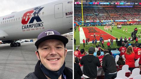 Alumni gets Super Surprise on Super Bowl Weekend
